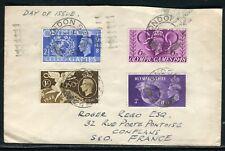 Royaume Uni - Enveloppe de Londres pour la France en 1948 ,  série Olympiques