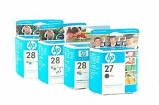 Genuine HP Ink Cartridge Lot 3x 28 Tri-Color & 1x 27 Black Sealed New Expired