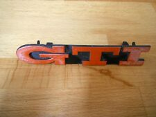 VW GOLF MK3 GTI ANNIVERSARY FRONT GRILL BADGE RED GENUINE 16V? 1H6 853 679 E / B