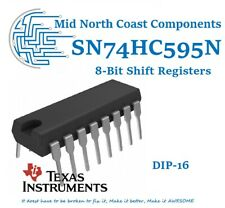 74HC595N 74HC595 8-Bit Shift Register Serial to Parallel DIP-16 Texas Inst IC