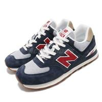 New Balance ML574PTR D Navy Red White Gum Men Running Shoes Sneakers ML574PTRD