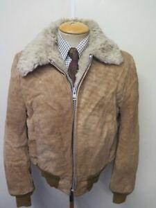 "Vintage Schott NYC Zipped Suede Harrington Bomber Jacket M 40"" Euro 50 - Brown"