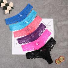 6Pcs/Set Women's Lace Panties Briefs Underwear Lingerie Knickers Thongs G-String