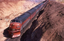 Western Pacific EMD F7A Engine #913-D w/Snow Plow - Dupe 35mm Railroad Slide