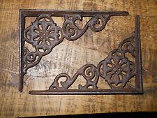 4 Cast Iron Antique Style Web Brackets, Garden Braces Shelf Bracket