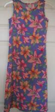 girls COPPER KEY FULL LENGTH DRESS floral TROPICAL beach wedding FANCY size 10