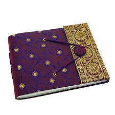 Fair Trade Handmade Small Sari Photo Album Scrapbook Sketchbook Purple