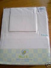 NEW - Mini B Cream 3 piece Cot Sheet Set Baby Girl/Boy