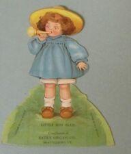 Little Boy Blue Nursery Rhyme Doll Estey Organ Co. Die Cut Victorian Trade Card