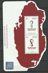 QATAR , 2021 FIFA World Cup Qatar 2022 MS , 2 Stamps  - MNH