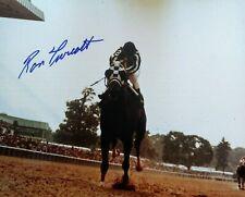 Ron Turcotte signed Secretariat autograph Belmont Stakes 1973 8x10