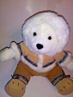 "PJ Toys White Bear  14"" Plush Stuffed Animal"