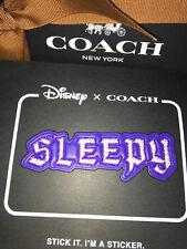 DISNEY X COACH Snow White SLEEPY STICKER Leather Patch A DARK FAIRY TALE Limited