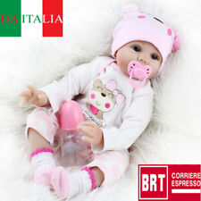 "Hot Sale 22"" Bambole Lifelike Silicone Reborn Baby Doll Playmat Regalo di Natale"