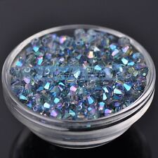 (165Colors) Wholesale 200pcs 6mm Bicone Faceted Crystal Glass Loose Spacer Beads