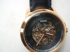Fossil Automatic men's blue leather band & water resistant,Analog watch.ME-3054