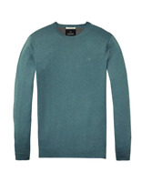 Scotch & Soda Long Sleeve Pullover 139782 , Blue Melange Size Small RRP £65