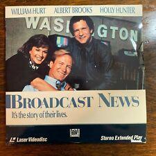Laser Disc ~ Broadcast News ~ William Hurt ~ Albert Brooks ~ Holly Hunter