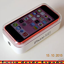 Telefono Movil Original Apple iPhone 5c 16GB Rojo Rosa Libre IMPOLUTO / OUTLET