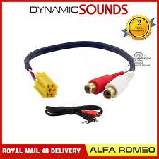Ct29ar01 Car Radio iPod mp3 RCA AUX INPUT Lead Adaptateur for Alfa Romeo 159 07-11