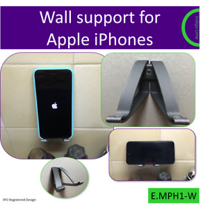 Wall mount for Apple iPhone. Made in the UK by us