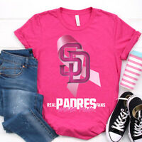 San Diego Padres Real Fan Wear Pink Classic Pink T Shirt. Best Gift For Fans.