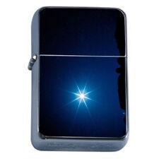 Star Polaris Em1 Flip Top Oil Lighter Wind Resistant With Case
