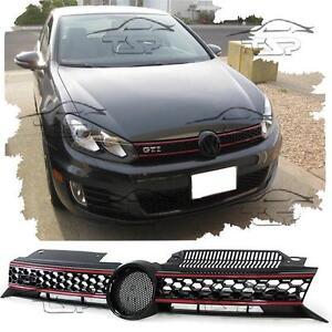 GRIGLIA CALANDRA ANTERIORE PER VW GOLF 6 08-12 GTI LOOK NEW GOLF VI NO LOGO