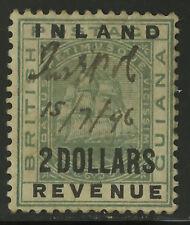 British Guiana  1889  Scott # 125  Mint Hinged - Fiscal Cancel