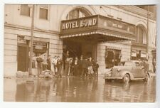 Real Photo Postcard Hartford, Connecticut Hotel Bond During Flooding