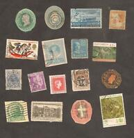 ++ US LOT / USA United States Cut Squares and World New Zealand Austria to Check