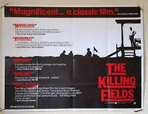 The Killing Fields Original 1984 UK cinema quad movie poster Sam Waterston
