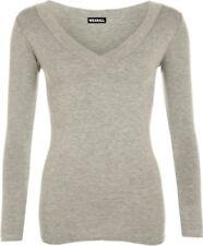 Maglie e camicie da donna grigi casual Taglia 46