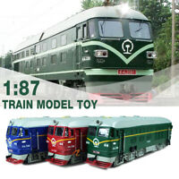 Alloy Train Locomotive Model Retro Toy With Sound & Light Combustion Engine