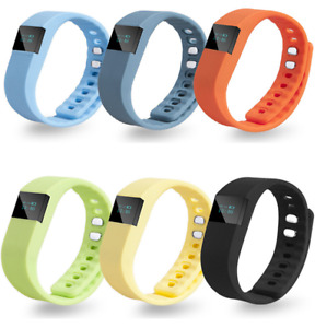 Multicoloured Pedometer Kids Activity Tracker Smart Fitness Counter Wristband