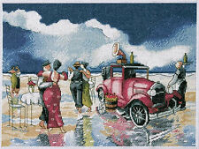 Cross Stitch Kit ~ Design Works Vintage Beach Waltz 1930s Era Scene #DW2737