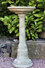 Bain D'Oiseaux Roses Pierre Fonte Résistant au Gel Neuf Déco pour Jardin &