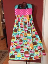 Boutique Just Ducky Girls Sz. 4 Cupcake Birthday Tie Dress  SO SO Cute!!