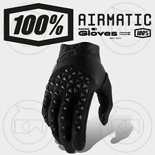 GUANTI 100% AIRMATIC MX BLACK/CHARCOAL ADULTO MOTOCROSS ENDURO OFF-ROAD ATV MTB