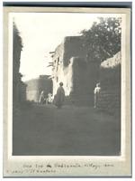Algérie, El Kantara (القنطرة), Village  Vintage silver print.  Tirage argentiq
