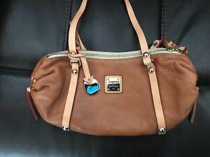 "DOONEY & BOURKE ""Emma"" Baguette Bag. Genuine Italian Leather & Brass! Gorgeous!"