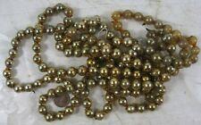 Vintage Mercury Glass Bead Garland Gold 8 Foot 1/2� #2