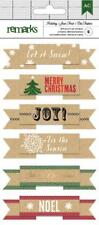 American Crafts Holiday- Let it Snow Layered Banner Stickers 340550