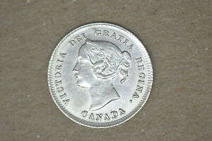 Canada:  1896 Five Cents-  Choice AU/BU. Cleaned.  Very attractive coin.