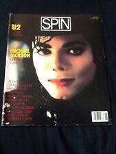 SPIN magazine 1987, Michael Jackson, U2, Al Green, Replacements, Chris Isaak