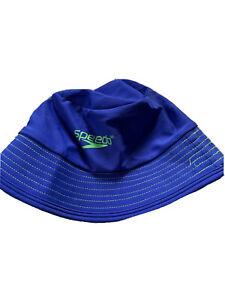 Speedo Kids Block The Burn Sun Hat UV 50+ Blue Size S/M Chin Strap - J