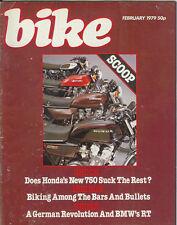 Bike Feb 1979  Honda CB750K Kawasaki Z750 Suzuki GS750 Yamaha XS750E  BMW R100RT