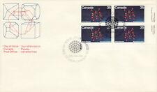 CANADA #865 35¢ URANIUM LR PLATE BLOCK FIRST DAY COVER