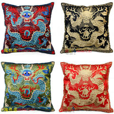EMBROIDERD chinese unqiue Dragon Cushion Cover home decor pillowcase multi-color