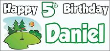 Crazy Golf 5th Birthday Banner x 2 Party Decorations Kids Personalised ANY NAME
